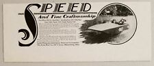 1929 Print Ad Acme Wasp, 16' Runabout, 18' Cabin Cruiser Boats Miamisburg,OH