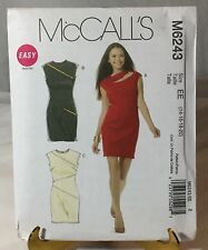 2010 Easy McCall's M6243 EE Size 14, 16, 18, 20 Sewing Pattern Uncut Dress