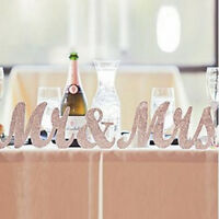 Silver Mr and Mrs Letters Sign Wooden Standing Top Table Wedding Decorations UK