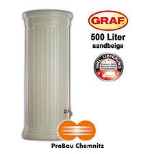 Graf Säulentank 500 Liter sandbeige, inkl. Lieferung, Regenwasser, Garten, NEU
