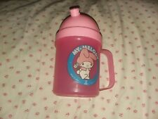 vintage MY MELODY sanrio plastic cup hello kitty 1984