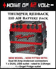 Thumper Redback 110 AH Portable Dual Battery Mazda BT50 Ute 4x4 Caravan Camper