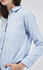 Women's Button Down Collar No Pattern Cotton Tops & Shirts