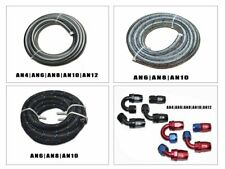 10FT FUEL HOSE AN4 6 8 10 12  FITTING STAINLESS STEEL NYLON BRAIDED E85 OIL-PL