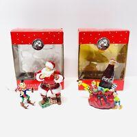 Lot of 2 Department 56 Coca-Cola Christmas Ornaments - 75th Anniversary