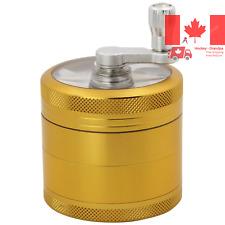 DCOU Hand Cranked Premium Grinder Unbreakable Aluminum Grinder for Herb and S...