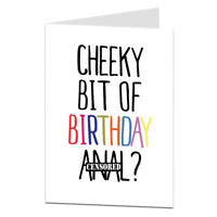 Rude Happy Birthday Card For Girlfriend GF Wife Her Female Naughty Adult Humour