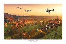 """WWII WW2 Luftwaffe Focke Wulf FW-190 JG1 Aviation Art Photo Print - 8"""" X 12"""""""
