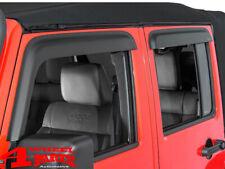 Windabweiser Seitenscheiben Set schwarz matt Jeep Wrangler JK Unlimited 07-18