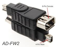 6-Pin Female to 4-Pin Male IEEE-1394a Firewire Adapter, CablesOnline AD-FW2