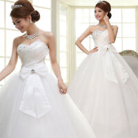 Luxury Princess Ball Gowns Backless Wedding Dresses Floor Length Bridal Gowns