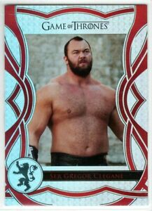 GAME OF THRONES THE COMPLETE SERIES THE CAST INSERT C81 SER GREGOR CLEGANE