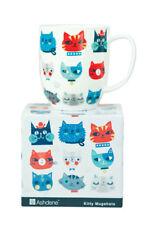 Cute Kitty Cat Kitten Faces Fine Bone China Tea Coffee Mug Cup