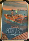 The Birds Movie Poster Bodega Bay Sonoma County Luxe Art Alfred Hitchcock Mondo