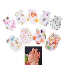 2 Pairs Cotton Newborn Mittens Handguard 0-6M Baby Infant Anti Scratch Gloves FO