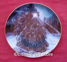 Julie Kramer Cole *Brother To The Moon* Western plate Bradford Mib Coa Rare!