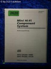 Sony Bedienungsanleitung MHC GRX80 /R880 /RXD8S /RXD8 (#2620)