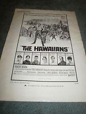 THE HAWAIIANS(1970)CHARLTON HESTON ORIGINAL PRESSBOOK