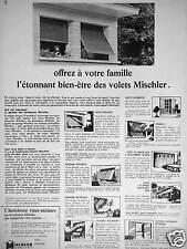 PUBLICITÉ MISCHLER VOLETS CLAIRMATIN - PERSIENNE BOIS-MÉTAL - CLOISONS DÉCORAMA
