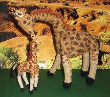 PRINTED INSTRUCTIONS-MOTHER  AND BABY GIRAFFE TOY ANIMAL KNITTING PATTERN
