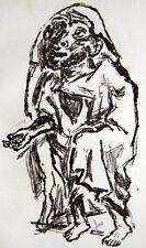 Rene beeh mendigos original-Litografia 1920 expresionismo empobrecer mendiant