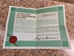 Vintage 1972 Rolex Open Guarantee Warranty Certificate 2 Million Serial