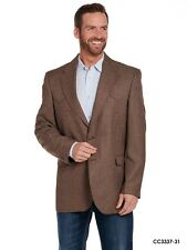 CC3337 Mens Circle S Brown Ft Worth Sportcoat size 44 Regular