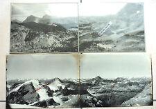 4 PHOTOS 1900 CHAINE DES ALPES MONTAGNE BELLDONNE GRANDES ROUSSES CO14