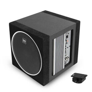 """Boss Elite BE8AE 8"""" 400W Subwoofer Enclosure with Built-In Amplifier"""