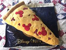 "Shanghai Disney Parks Food Mickey Mouse Pizza Pillow Plush Medium 22 ""Nwt"