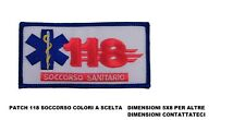 Patch toppa 118 SOCCORRITORI INFERMIERE AMBULANZA PROTEZIONE CIVILE