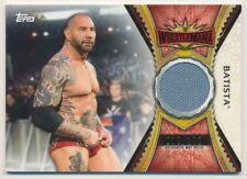 2020 Topps WWE Road to WrestleMania Mat Relics #MRBT Batista
