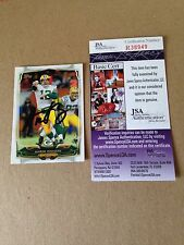 Aaron Rodgers HAND SIGNED ON CARD 2014 Topps JSA CERTIFIED RARE