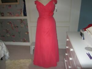 Forever Yours wedding/prom dress in coral size 10