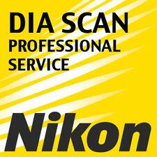servizio di scansione professionale di 36 diapositive dia con scanner Nikon