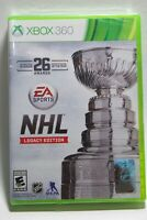 NHL Legacy Edition (Microsoft Xbox 360, 2015) *Brand New Factory Sealed*