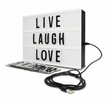 Marquee Light Box Room Decor Led Light Box Home Decor Symbols /& Emojis /& 2 Markers USB Included Cinema Light Box with 300 Letters Light Up Sign Novelty Gifts Christmas /& Birthdays BONNYCO