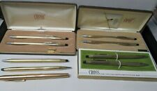 Lot of Cross Gold Filled Pen and Pencil Sets