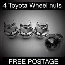 Genuine Original FACTORY Toyota WHEEL NUTS 4 si adatta a corolla, M12x1.5 filettatura 21 mm