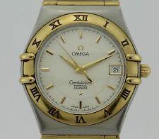 Omega Constellation Perpetual Calendar Quartz Steel and 18k Gold