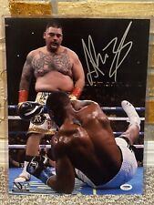 ANDY RUIZ SIGNED AUTO BOXING 11x14 ICONIC PHOTO HW CHAMPION Anthony Joshua PSA