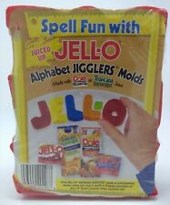 JELL-O Alphabet Jigglers Molds JELLO ABC Shape Cookie Cutters Spell Fun