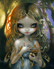 Jasmine Becket-Griffith fairy wine fae chalice witch art print SIGNED Oaken Mead