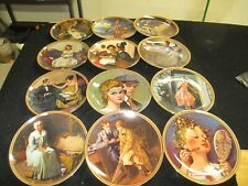 "Norman Rockwell ""Rediscovered Woman"" Collection Plates"