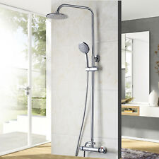 Chrome Thermostatic Bath Shower Head Handheld Spary Faucet Set Mixer Value Tap