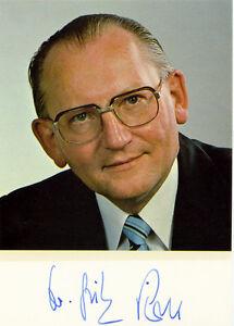 CSU Dr. FRITZ PIRKL (1925-1993) Bayerischer Staatsminister für Arbeit & Soziales