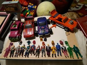 Lot 4 Vehicules Mask Kenner Avec 14 Figurines 10 Casques