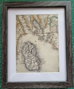 1846 MAP ISLE OF ARRAN BUTE CUMBRAY HOLY ISLAND GREENOCK SALTCOATS HAND COLOURED