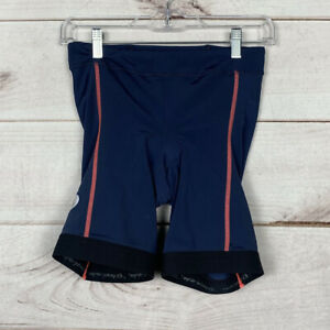 """PEARL iZUMi Select Pursuit Tri Shorts Navy/Fiery Coral 9"""" Inseam Women's M"""