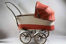 beautiful age Doll pram Stroller GDR Top Decoration Toy red
